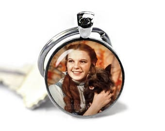 Dorothy Gale and Toto Keychain Wizard of Oz Keyfob Dorothy Keychain Fandom Jewelry