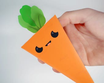 Carrot Candy Boxes - Garden Themed Candy Boxes, Favor Boxes, Vegetable Craft Project