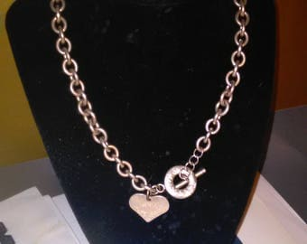 Tiffany Necklace 925 Large 62g Rare 2 Piece Thick Chain ''Please Return to Tiffany & Co Silver New York 925 Heart Tag Necklace ''**Vintage**