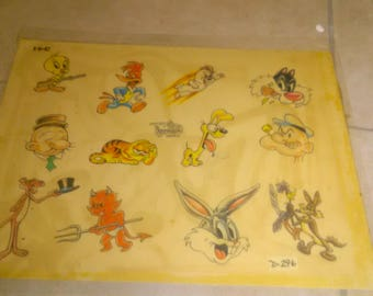 Vintage Tattoo Flash Art Sheets Pulled From Tattoo Shop (DOUBLE SIDED) ****************Vintage***********************