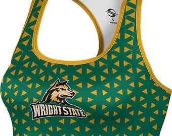ProSphere Women's Wright State University Geometric Sports Bra (WSU)