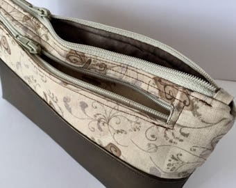 Cosmetic bag leather bag for women