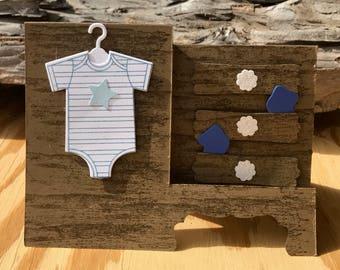 Dresser drawer baby card, baby boy card, 3D baby card, baby card, pop up baby card, welcome baby, baby shower