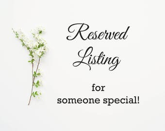 Reserved Listing- Additional Table Number Cards