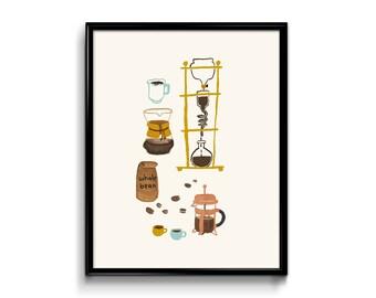 Wall Art Print - Coffee Art Print 8x10