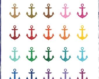 Anchors Shapes Digital Download Clipart