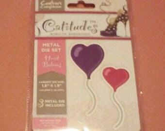 Catitudes Heartshaped Balloons Metal Papercrafting Dies Set