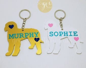 Custom Doodle Acrylic Keychain, Labradoodle Keychain, Doodle Keychain, Goldendoodle Keychain, Personalized Doodle Gift, Labradoodle Ornament