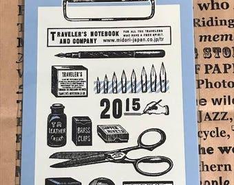 Traveler's Note 2015 Limited Plastic Sheet Passport size 40214006 Traveler's Factory Midori Designphil Last item Rare Free shipping Sale