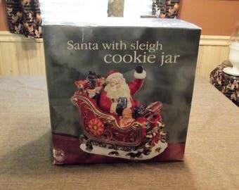 Mercuries *-* Santa with Sleigh *-* Cookie Jar