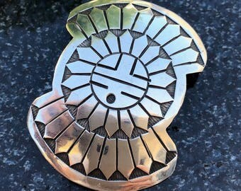 Sterling Bolo Slide | Indian Jewelry | Tribal Jewelry | Womens Bolo | Mens Tie Accessories |