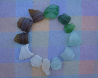 Bottle necks-jewelry/craft supplies-genuine surf tumbled sea-sun catcher supplies