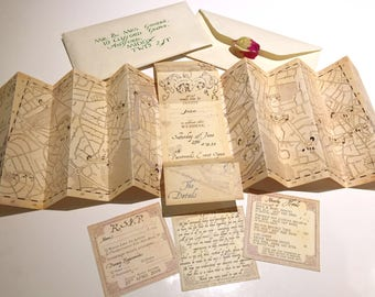 harry potter wedding etsy - Harry Potter Wedding Invitations