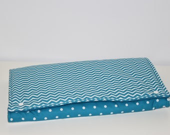 Changing mat Nomad - 72 x 42 cm - turquoise, gray and white - boy gift idea
