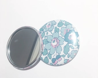 75mm Liberty Betsy turquoise Pocket mirror