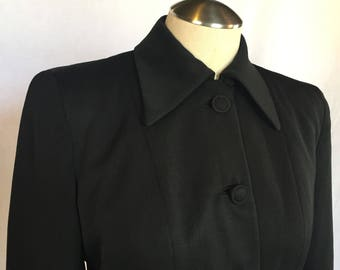 1940's Black Gabardine Jacket