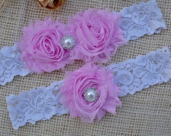 Set Violet Garter, White Garter Belt, Purple Garters, Bridal Clothing, Garter For Women, Brides Garters, Set Of Garter , Purple Garter Set