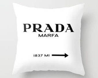 PRADA MARFA Inspired Pillow Cover | Throw Pillow | Designer Pillow | Couch Pillow | Bedroom Pillow | Housewarming Gift | Gifts for Her