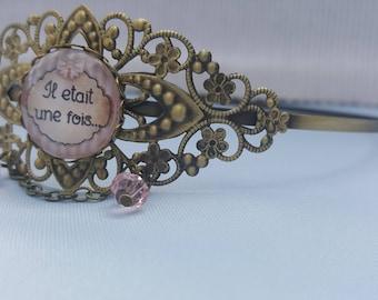 "Headband - Tiara Bronze ""Once upon a time"""