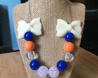 Denver broncos bead necklace! Free shipping in the US!