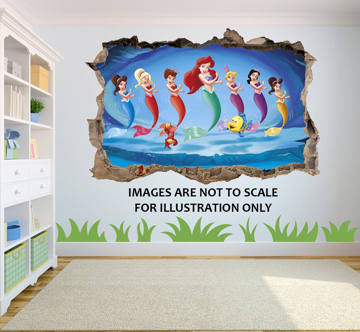 The Little Mermaid Ariel 3D Effect Graphic Wall Vinyl Sticker Decal  sc 1 st  shopping for Discount Womens Mens and Kids Athletic Clothes ... & The Little Mermaid Ariel 3D Effect Graphic Wall Vinyl Sticker Decal ...