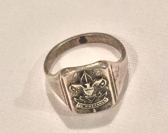 Boy Scout signet ring 1940's