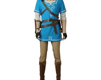 The Legend of Zelda Breath of the Wild Link Cosplay Costumes