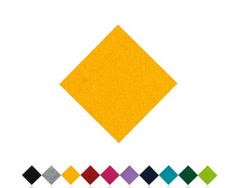 Chair cushions | YELLOW | Felt pads | Seat cover | to measure