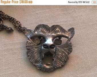 On Sale Vintage Animal Face Necklace
