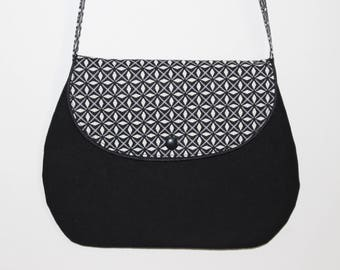 Small classy bag for great girl black graphic