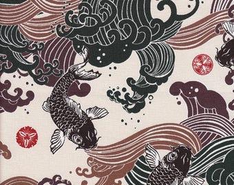 Coupon48cm×108cm coton japonais poisson Koi
