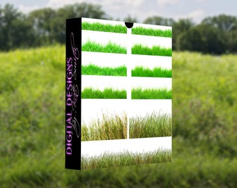 Buy 3 get one free. Grass Overlays, Separate PNG Files, High Resolution, Instant Download.