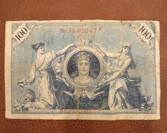 1908 100  Mark German banknote, Reichsbanknote