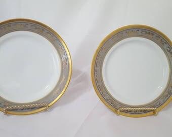 ON SALE, Christian Dior Plates, Dior Salad Plates, Dior Mandarin Plates, Antique Plates, Vintage Dior Plates, Christian Dior, Dior China