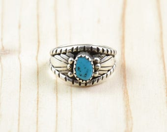 Navajo, turquoise ring, woman ring, Silver 925/1000, size 56, Size 7 3/4