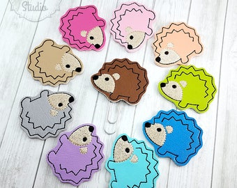 Hedgehog Planner Clip - Paperclip - Bookmark - Pick your color!