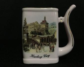 Vintage Karlovy Vary Rectangle Spa Sippy Cup, Czech Republic   (TTT17)