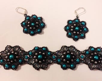 Moonlace bracelet and earring set