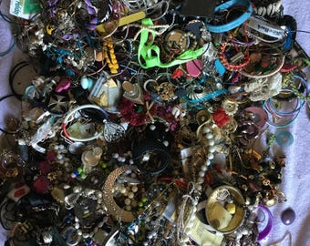 20++ lbs. of broken vintage jewelry and findings