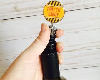 Pull To Eject Bottle Stopper- Aviation Gift- Aviation Barware- Pilot Gift- Military Barware- Aviation Bottle Stopper
