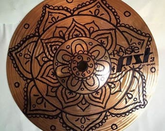 Hand painted Mandala Drum Cymbal