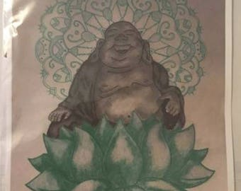 Green Buddha Print