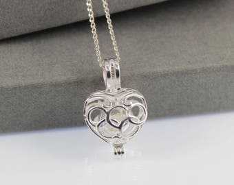 Sterling Silver Memorial Cremation Ash Heart Locket Necklace. Keepsake Memory of Loved, Memorial Jewellery, Urn Necklace
