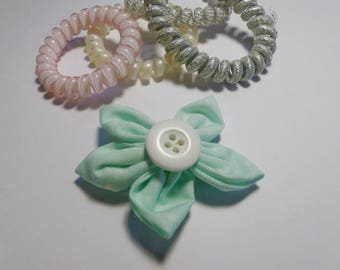 Pastel green clip, girls hair clip, mothers day gift, birthday gift, spotty hair clip, pastel hair clip, pastel hair accessories