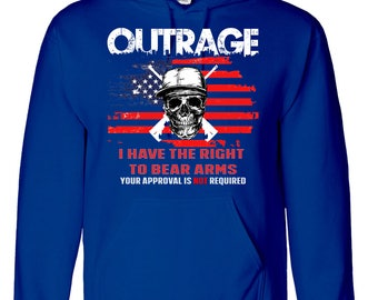 OUTRAGE Skull Hoodie