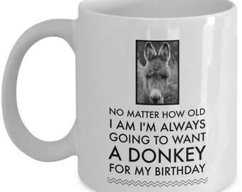 Donkey Mug - Donkey Gift Cup For Donkey Lovers - Donkey Themed Coffee Mug