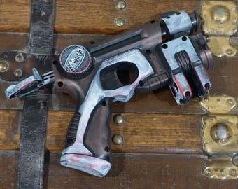 Post Apocalyptic Zombie Blaster Laser Gun Cosplay Working Nerf Gun Brass Blaster Live Action Roleplay Ray Working Toy Dart Gun