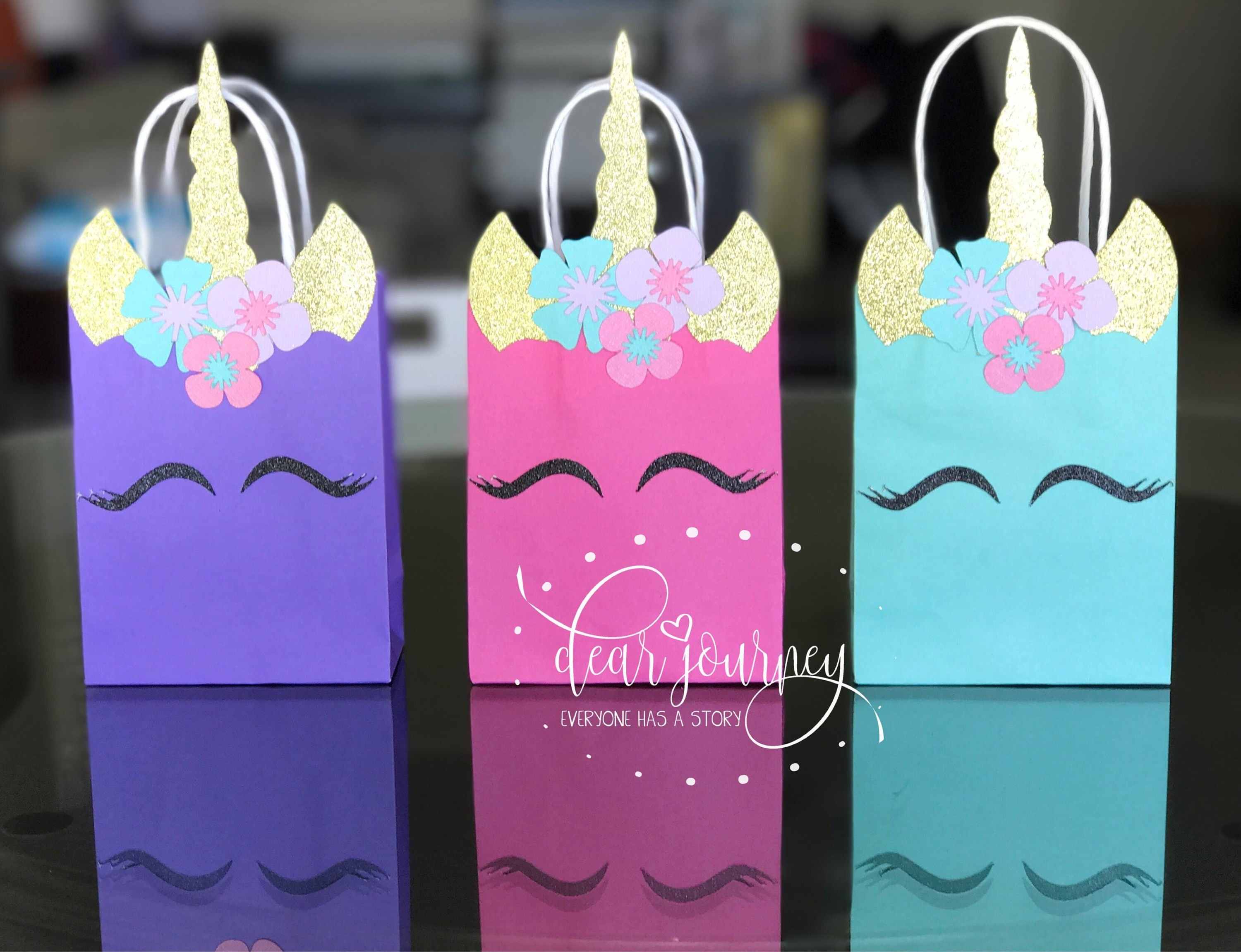 Unicorn birthday unicorn favor bag unicorn party decoration for Bag decoration ideas