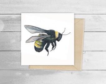 15cmx15cm Bumble Bee Greetings Card