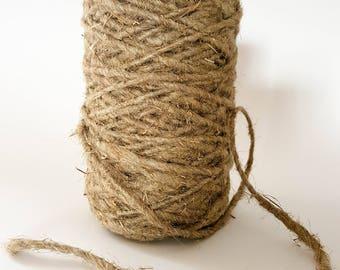 100 yd Gardening 2mm- 6mm linen hemp - 100% natural linen rope
